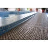 Сборное покрытие для мягкого пола сеточкой в бассейне или аквапарке